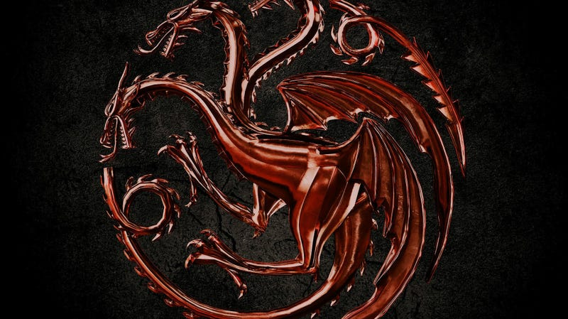 The logo for House of the Dragon, the new HBO Game of Thrones show.