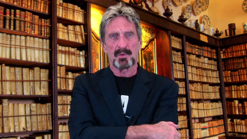 """Illustration for article titled John McAfee's """"Campaign Video"""" Is Batshit"""