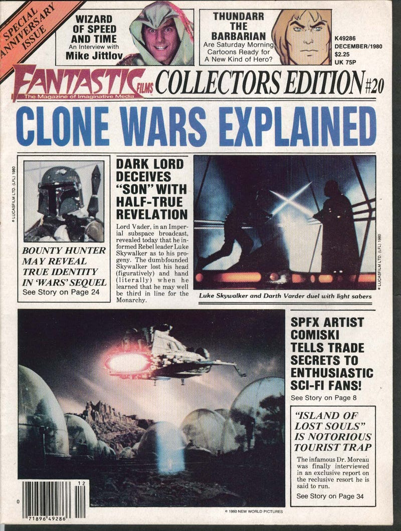 Illustration for article titled 1980 Star Wars Fan Speculation Is Weirdly Prescient, Also Batshit Insane