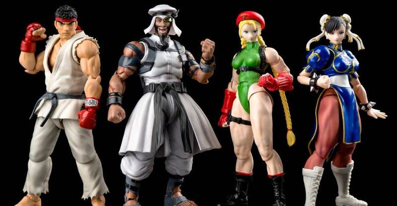 Illustration for article titled New Street Fighter Figures Are Cool