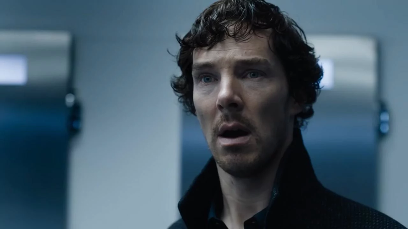 Benedict Cumberbatch as a shaggy Sherlock Holmes.