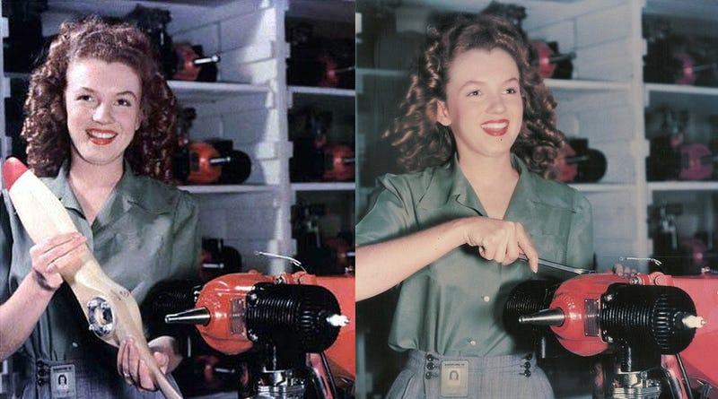 Illustration for article titled Marilyn Monroe Assembled Drones During World War II
