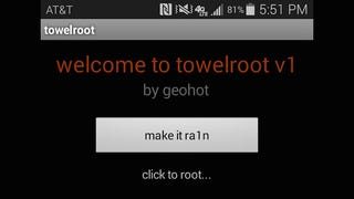 Illustration for article titled Towelroot Roots Many KitKat Devices in One Tap, No PC Required