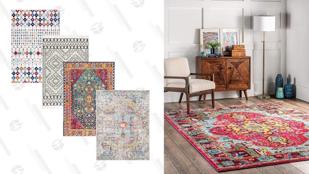 Keep Your Toes Warm And Spruce Up Your Space With Up to 30% Off a Wide Variety of Rugs