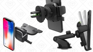 iOttie iTap cargador inalámbrico Qi | $35 | AmazoniOttie Easy One Touch 4 | $17 | AmazoniOttie iTap soporte magnético para el CD | $14 | AmazoniOttie iTap soporte para el conducto del aire | $14 | Amazon
