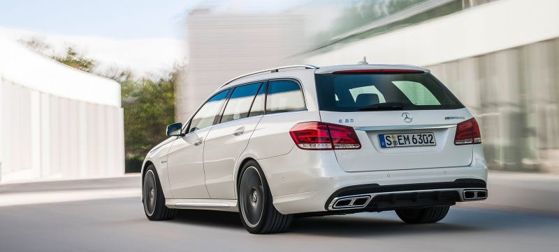 The last-gen, or I guess I should say current gen E63 wagon. The next one's getting drift mode. Photo: Mercedes