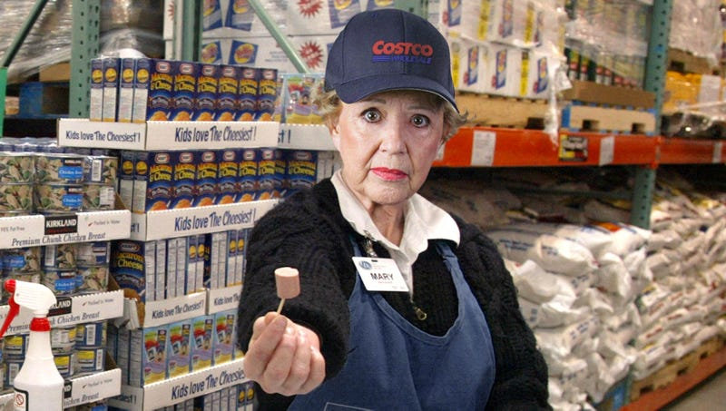 Illustration for article titled 'Once They Put Me On Cheeses, I Will Finally Be Happy,' Says Costco Employee Handing Out Free Vienna Sausage Samples