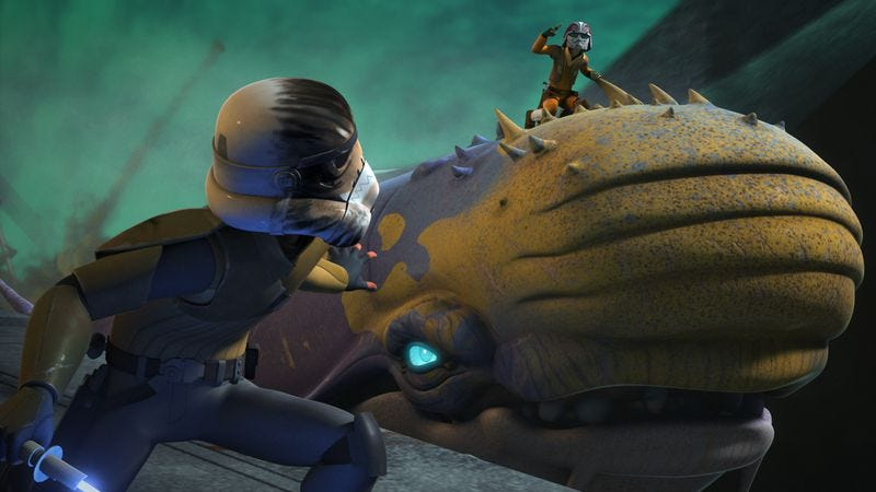 Illustration for article titled Star Wars Rebels uses space whales to tell an average story, nothing more, nothing less