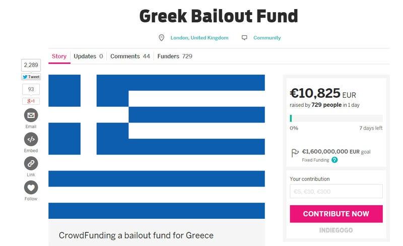 Illustration for article titled Közösségi finanszírozással törlesztenék a görög adósságot