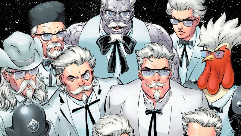 Illustration for article titled Kentucky Fried Chicken and DC Comics continue their weird, fruitful collaboration