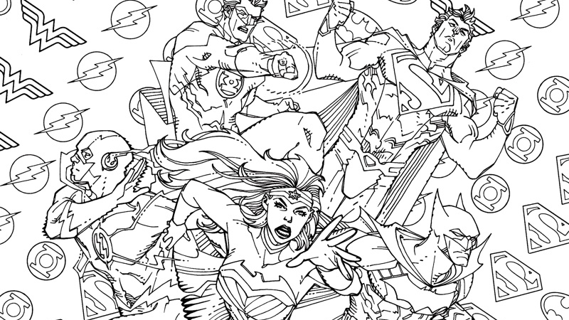 dc coloring pages | DC Comics Wants You To Color In Its New Comic Covers