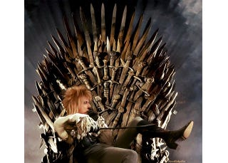 Illustration for article titled Jareth the Goblin King on the Iron Throne Is Everything We Ever Wanted
