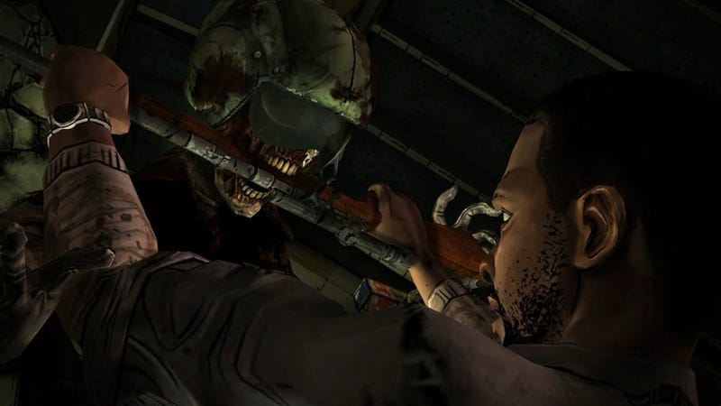 Illustration for article titled Oh Holy Crap It's A Freaky Screenshot From The Next Episode Of The Walking Dead