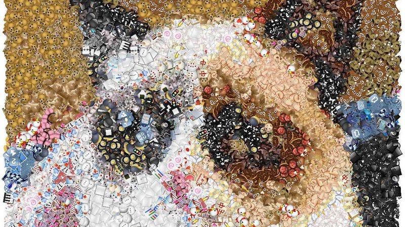 Grumpy Cat, now an emoji mosaic