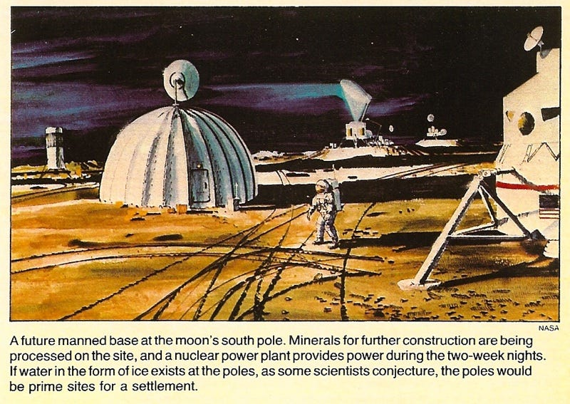 Illustration for article titled Moon Settlement by 2007 (1985)