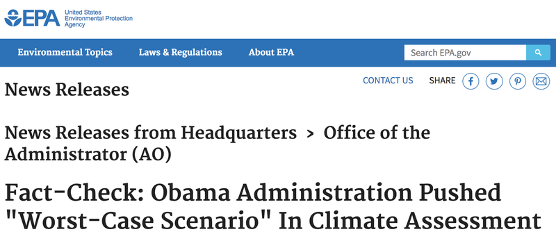 The EPA Is Now Relying on the Daily Caller to Lie About the National Climate Assessment