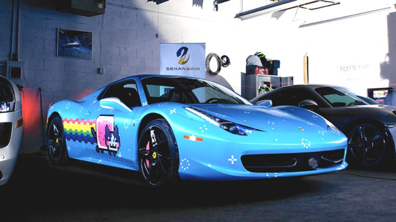 ferrari sent deadmau5 a cease and desist about his 39 purrari 39. Black Bedroom Furniture Sets. Home Design Ideas