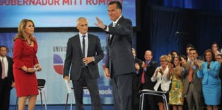 Mitt Romney on Univision (NICHOLAS KAMM/AFP/GettyImages)