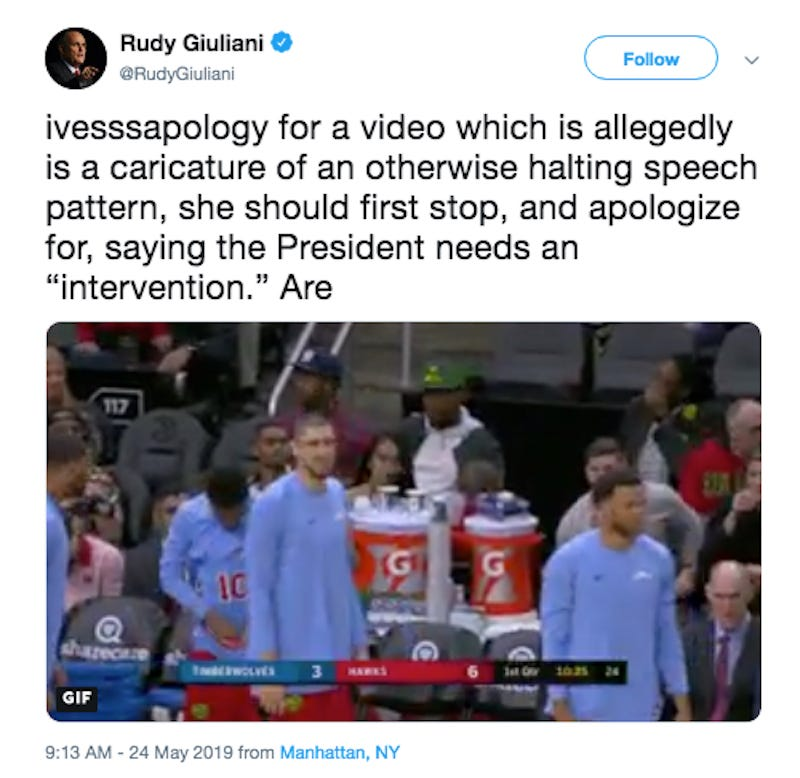 How The Hell Did Rudy Giuliani Select This Obscure Atlanta Hawks GIF?