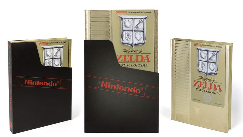 Illustration for article titled The Deluxe Edition Zelda Encyclopedia Looks Like An NES Cart