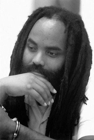 This 1994 file photo shows Mumia Abu-Jamal at a Pennsylvania Department of Corrections facility in Huntington, Pa.CLARK KISSINGER/AFP/Getty Images