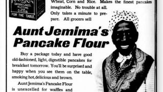 Ad showing the Aunt Jemima character, 1909Public domain