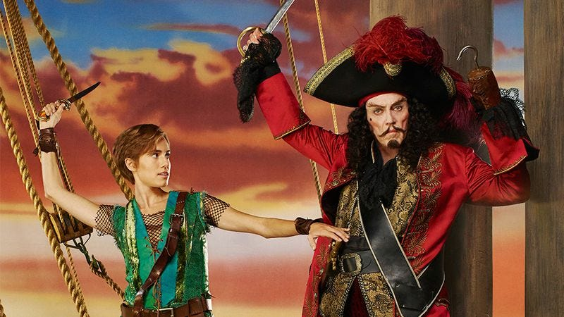 Illustration for article titled Peter Pan Live! pits Allison Williams against Christopher Walken