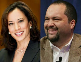 Kamala Harris; Ben JealousCalifornia Attorney General's Office; Chip Somodevilla/Getty Images