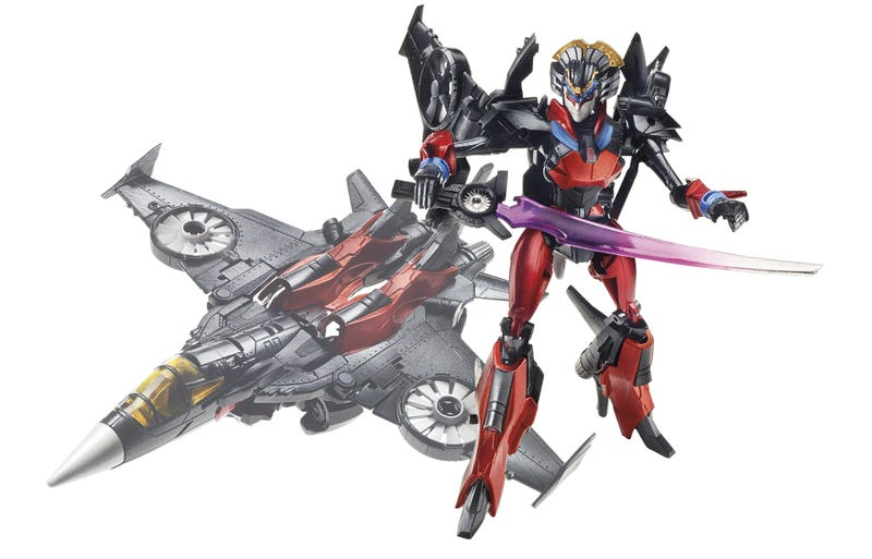 Illustration for article titled Transformers 'Fan Built Bot' Is One Plane-Looking Lady