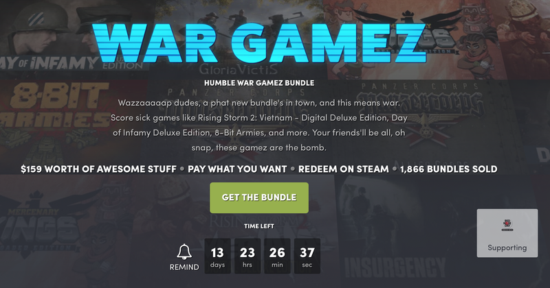 Humble War Gamez Bundle