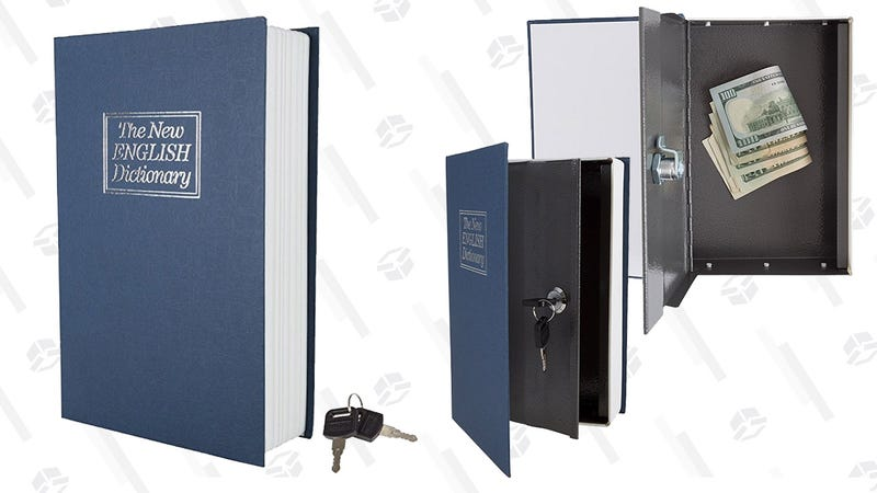 Stalwart Diversion Book Safe Lock Box with Key | $9 | Amazon