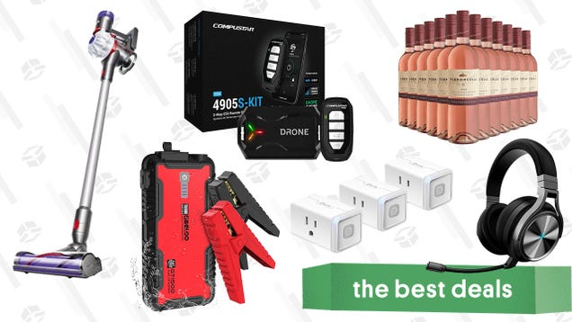 Saturday s Best Deals: Compustar 2-Way Remote Start Kit, Dyson V7 Allergy, Gooloo Car Jump Starter, Kasa Smart Plugs, Corsair Virtuoso Headset, and More