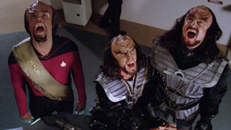 Illustration for article titled It's about damn time the Klingons entered the Star Trek legal battle