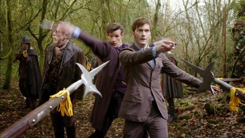 Illustration for article titled In the deadly game of Halberd vs. Sonic Screwdriver, Who wins?