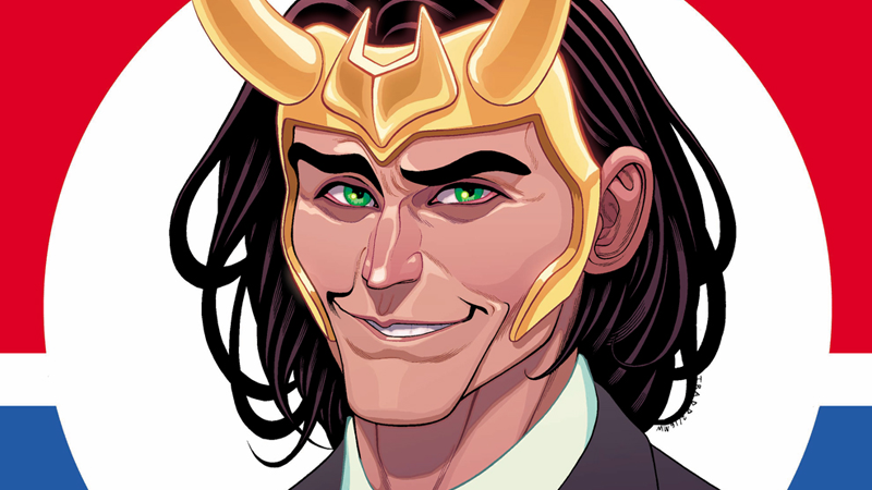Vote Loki#1 cover art by Tradd Moore.