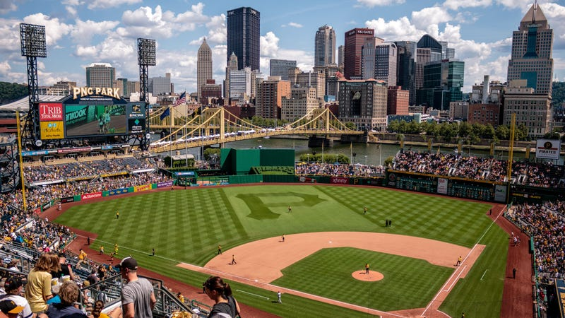 The view from a Pirates game