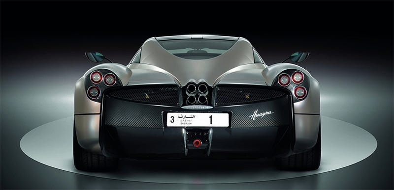 Image by the author. (Graphics: Pagani, Emirates Auctions)