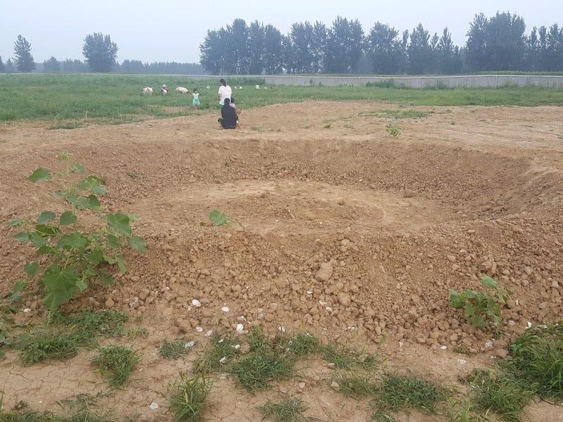 Estado de la construcción de la fabrica. Imagen: Xinhua News Agency