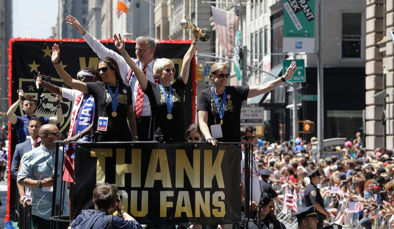 Illustration for article titled Here's How NYC Celebrated the Women's World Cup Champions