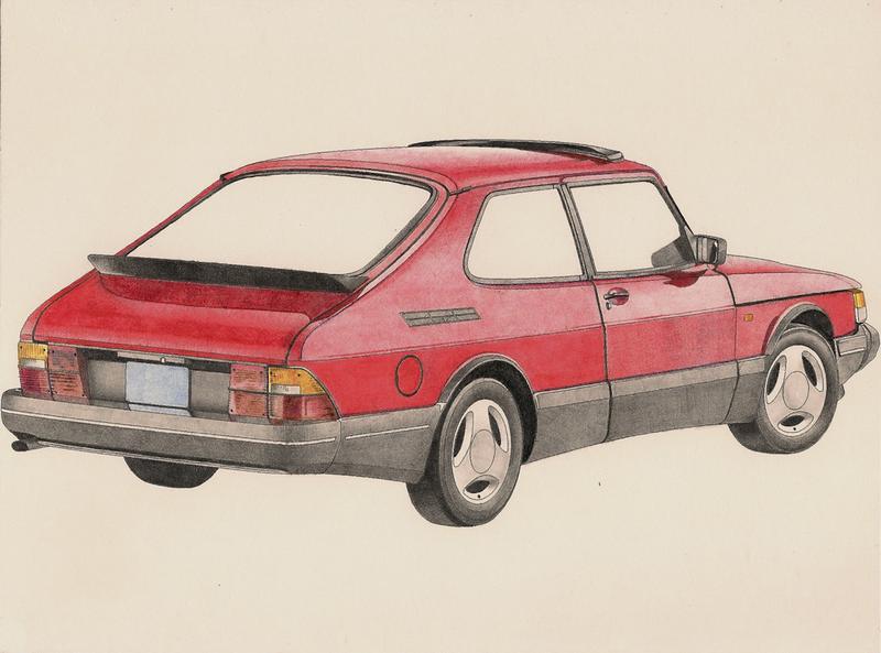 Illustration for article titled Saab 900: Sketched