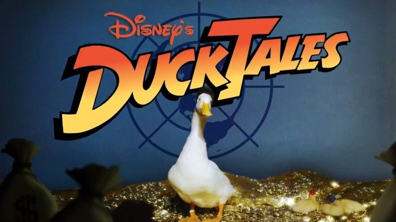 Illustration for article titled The DuckTales intro recreated with actual ducks is as cute as you'd think