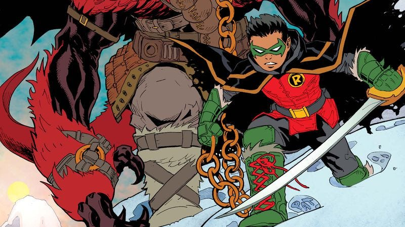 Illustration for article titled Exclusive DC preview: Damian Wayne flies solo in Robin: Son Of Batman #1