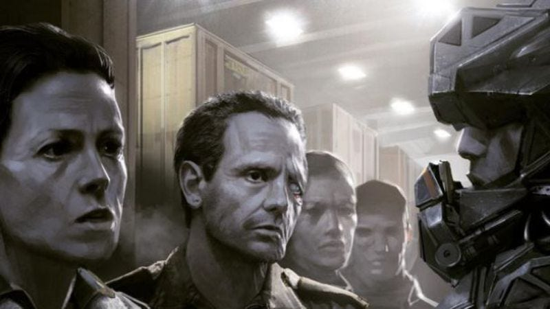 Alien concept art commissioned by Neill Blomkamp