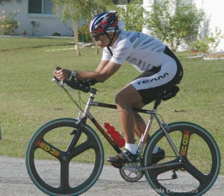 Illustration for article titled Lesson on triathlon bikes (NSFW-ish warning)