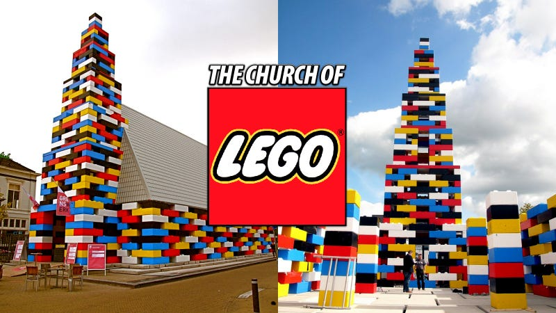 Illustration for article titled 65-Foot-High Lego Church Is Really a Party Cathedral