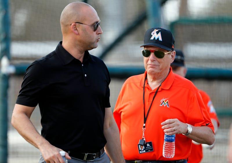 Marlins CEO Derek Jeter and majority owner Bruce Sherman.