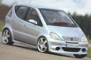 Illustration for article titled The Twin Engined Mercedes A-Class