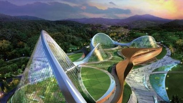 South korea plans giant eco dome for The ecorium project