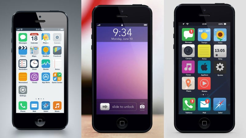 Illustration for article titled 8 iOS 7 Mockups: Is This What Your Next iPhone Will Look Like?