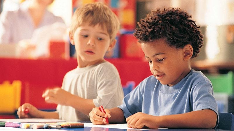 Illustration for article titled Preschooler Asks To Borrow Classmate's Notes On Shapes